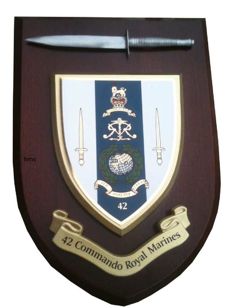 42 Commando Royal Marines With Pewter Dagger Military Wall